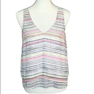 Candies Tank Top White Layered Flowy